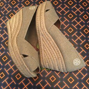 Tory Burch Wedge Open Toe Sandal